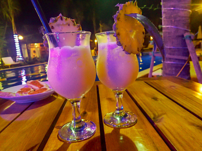 Phu Quoc Dragon Hotel Cocktails by the Pool
