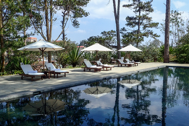 Ana Mandara Villas Dalat Pool reflection