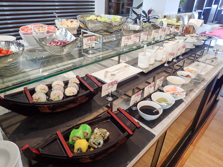Breakfast Buffet Sushi Selection