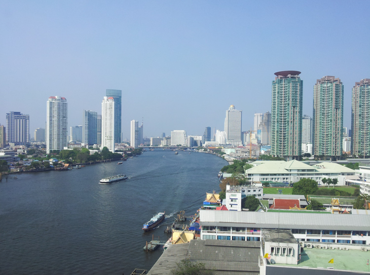 Riverside Hotel Bangkok Chao Phraya View from the Executive Suite