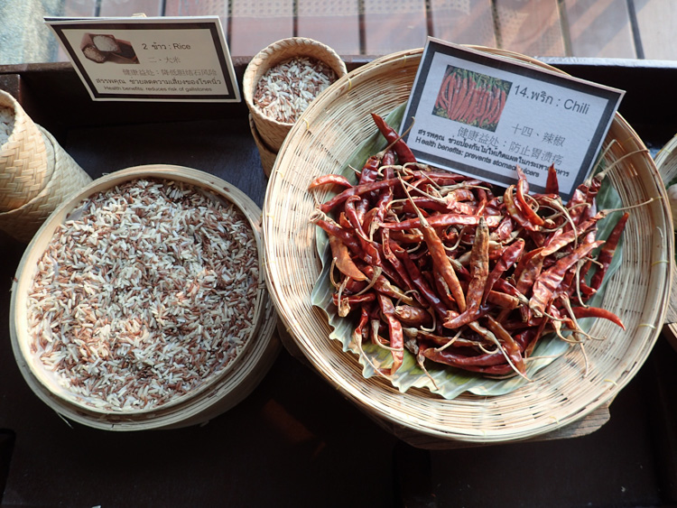 Dried Chilis Display