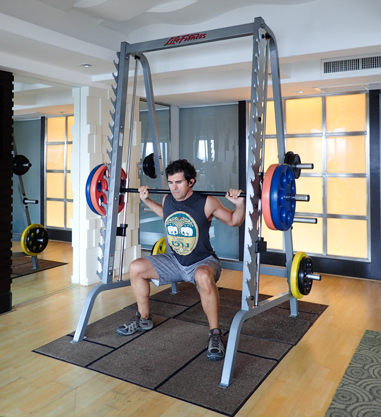 Smith Machine Bangkok Hotel Gym