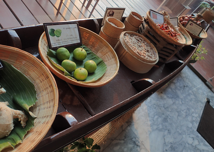 Thai Ingredients Basket Display
