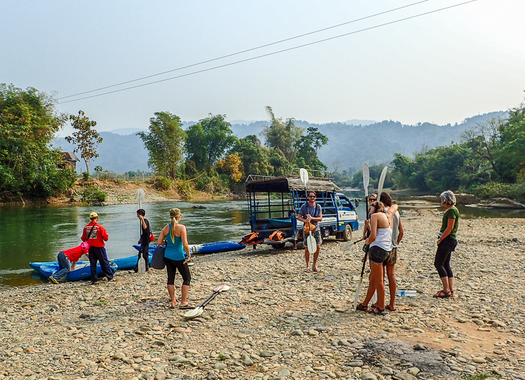Getting Ready for Kayaking on the Nam Song