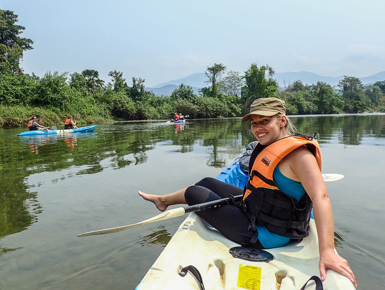 Me being a Lazy Kayaker and enjoying the scenery