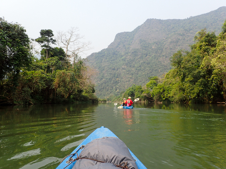 View of the Nam Song from my Kayak