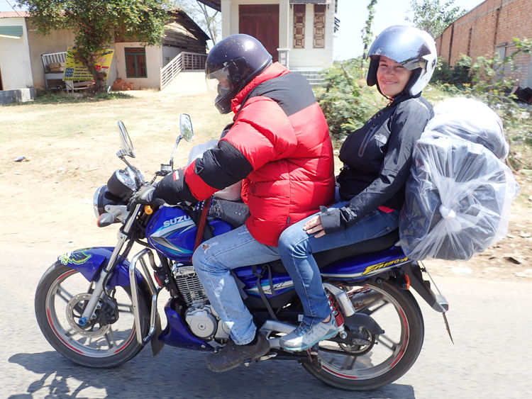 Easy Riders Vietnam Motorbike with luggage