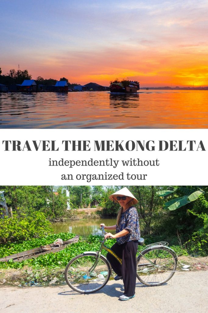 How to Travel the Mekong Delta on your own. Click to find out how to experience this gorgeous place without an organized tour!