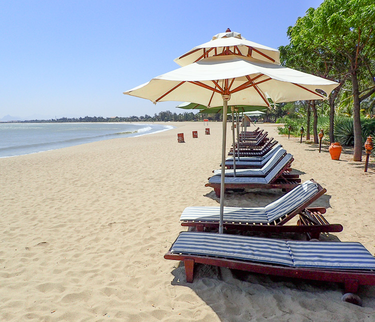 Sun Loungers at Saigon Ninh Chu Hotel near Phan Rang