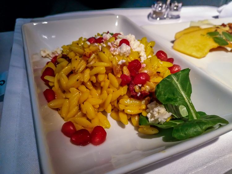 Kalette and saffron orzo salad