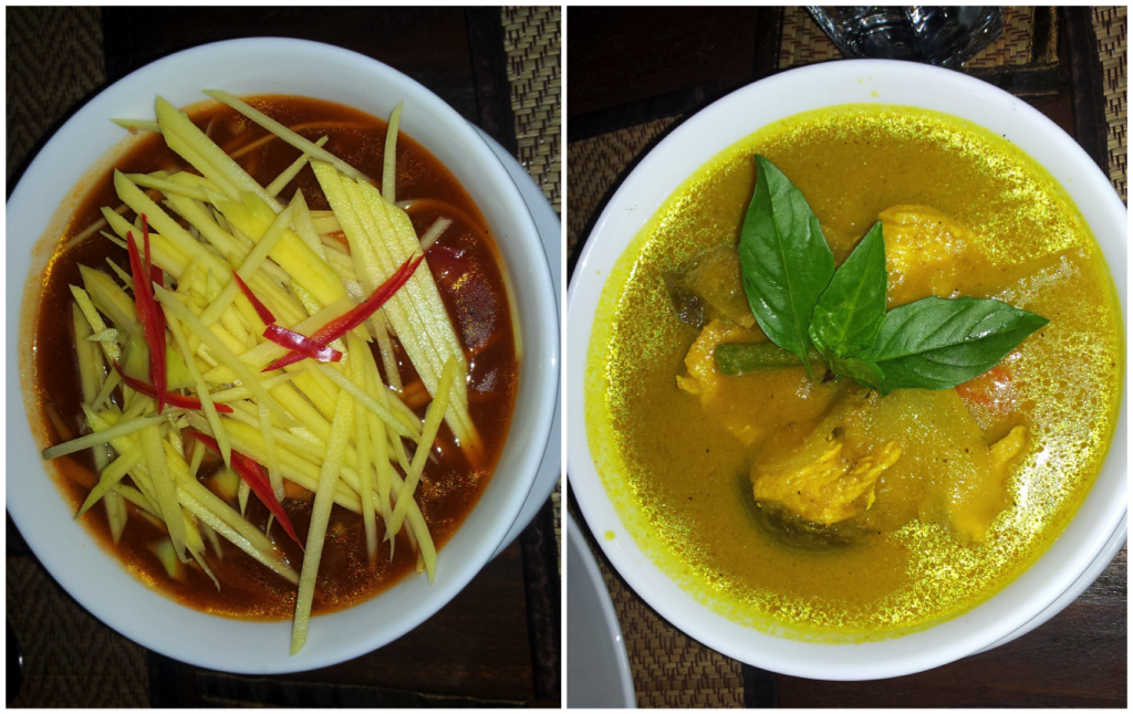 Khmer Chicken and Fish with Green Mango