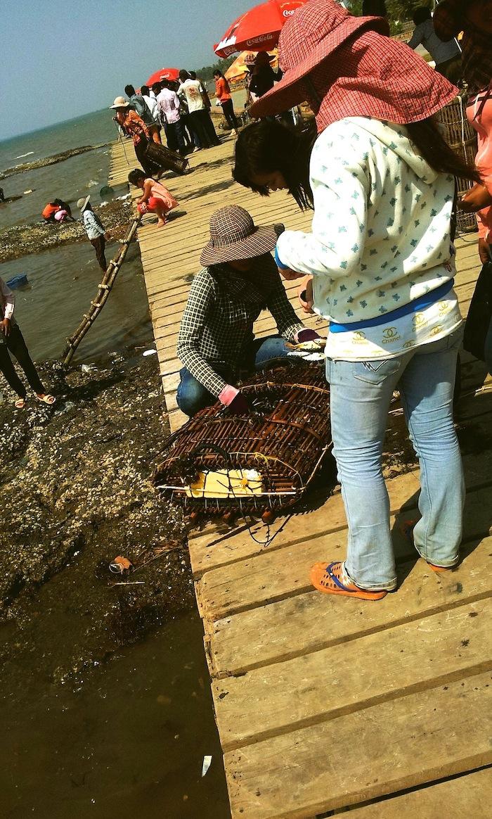 Der Krabbenmarkt in Kep, Kambodscha