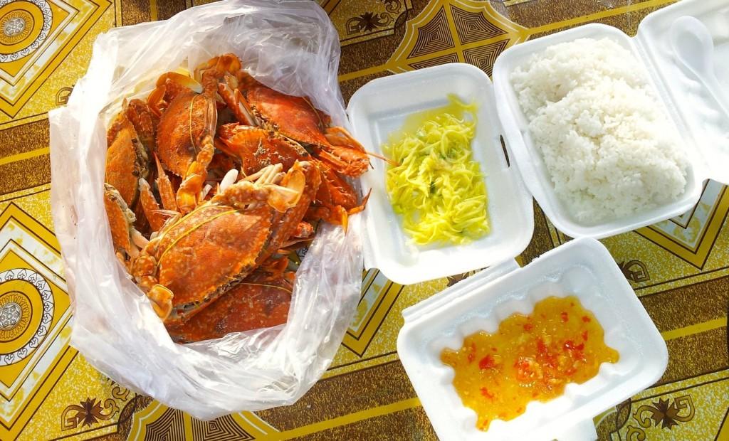 Fresh Crabs at the Kep Crab Market, Cambodia