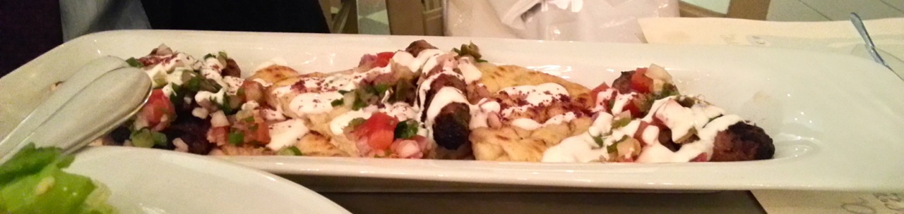 Things to do in Athens for Foodies: Kuzina Restaurant Meatballs and Pita