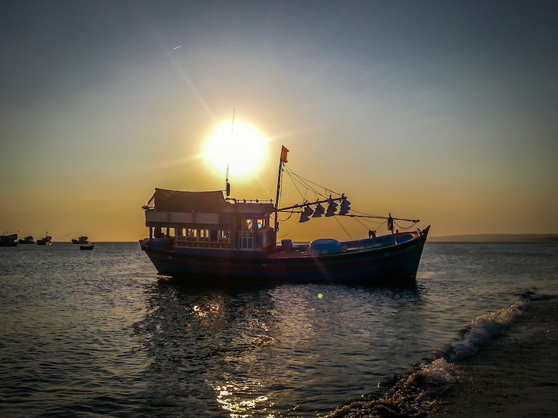 Mui Ne Vietnam Sunset Ship