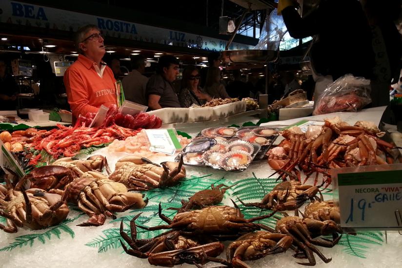 La Boqueria Seafood Stand