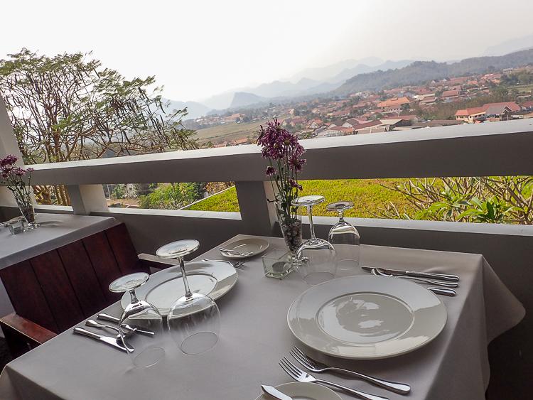 Luang Prabang View Hotel Dinner Setup View