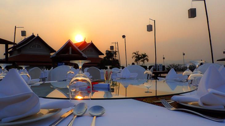 Luang Prabang View Hotel Dinner Sunset