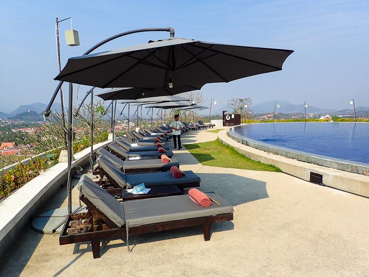 Luang Prabang View Hotel Pool Loungers