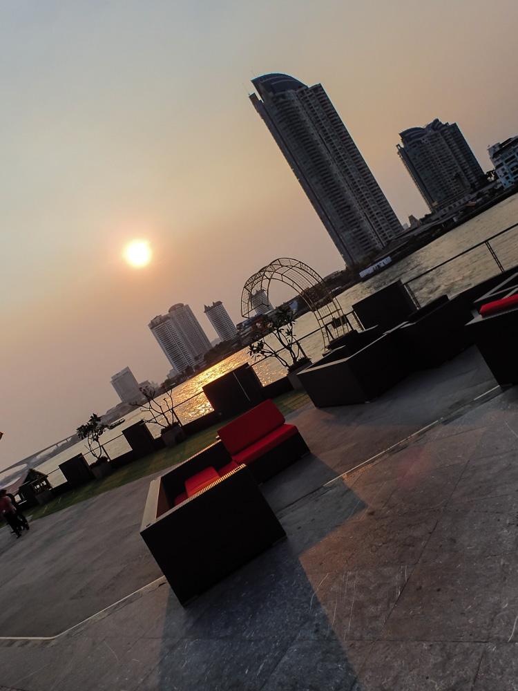 Chao Phraya River at Sunset