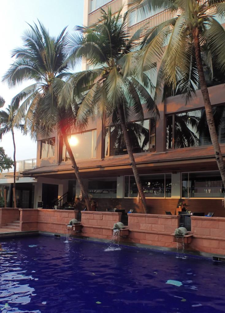 Ramada Plaza Bangkok Menam Riverside Pool and Palmtrees