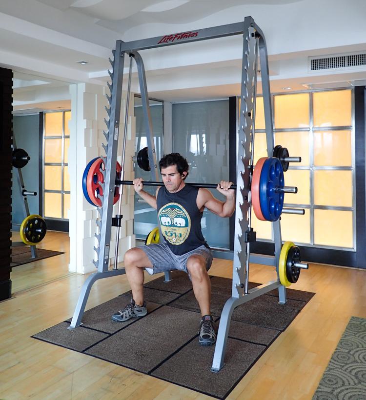 Smith Machine Bangkok Hotel Gym