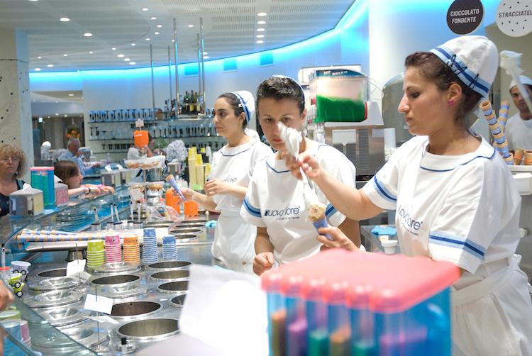 Gelato ice cream shop in Riccione