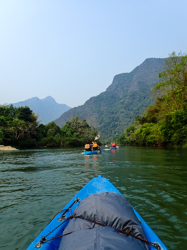 Kayaking Vang Vieng Views