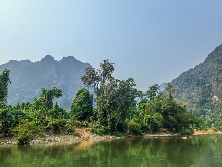 Nam Song River in Laos