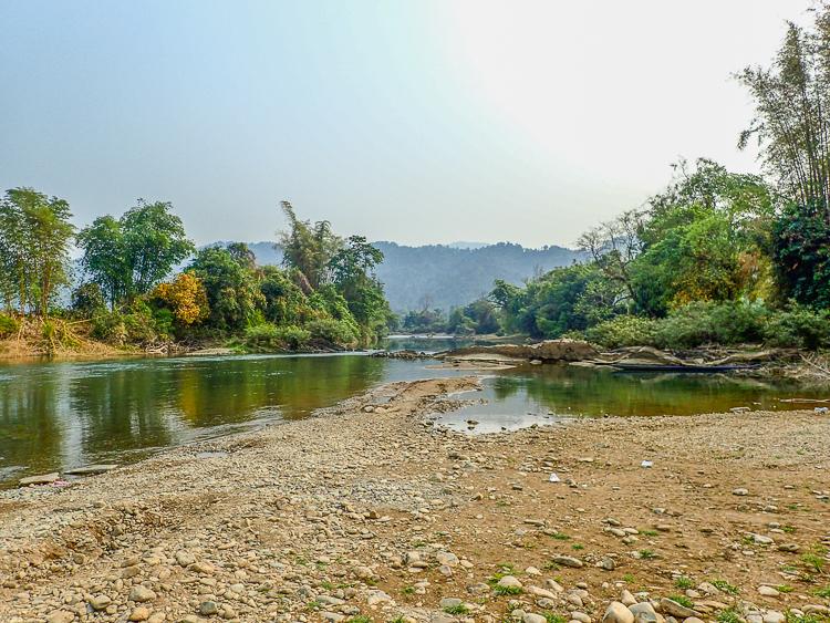 Nam Song River in Dry Season
