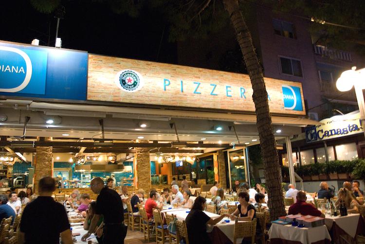 Pizzeria in Riccione, Italy