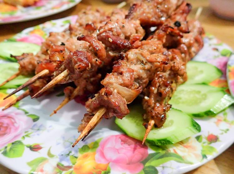 Vietnamese Cuisine Pork Skewers