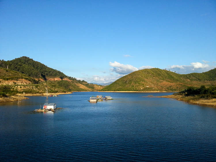 Water Reservoir near Dalat in the Central Highlands, Vietnam