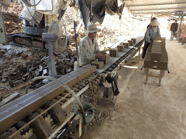 A brick factory in Vietnam