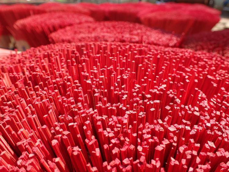 Close up of insense sticks
