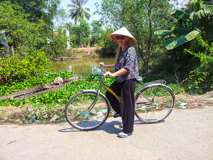 Riding our Mekong Delta Cycling Tour in style