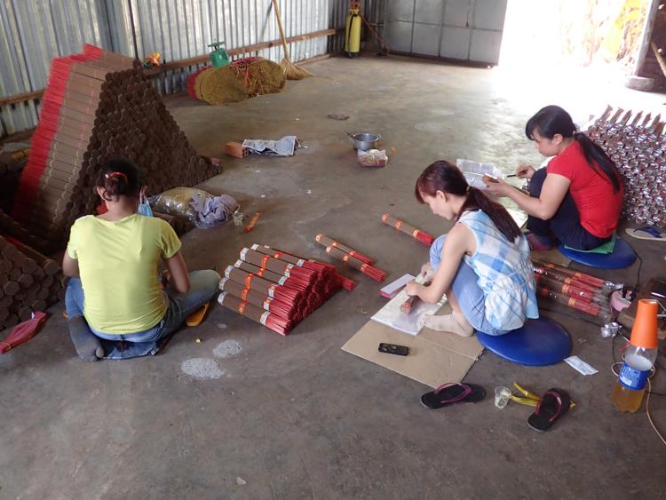 Insense sticks being packaged