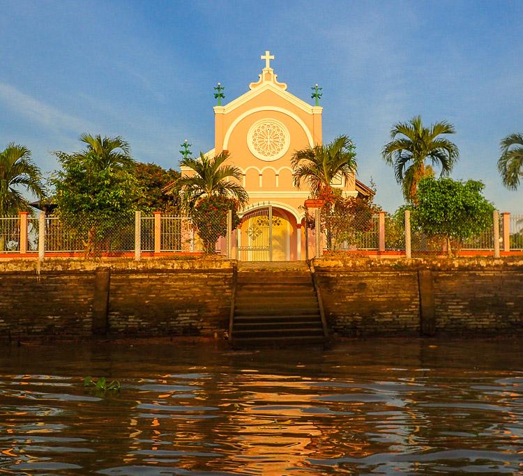 Mekong Delta schwimmenden Märkte