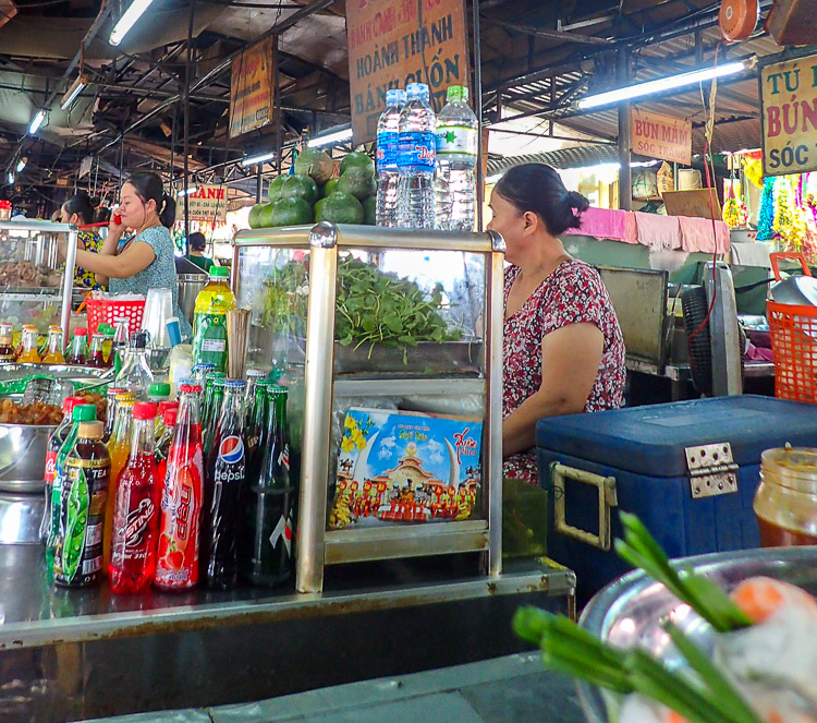 Vinh Long Market in the Mekong Delta