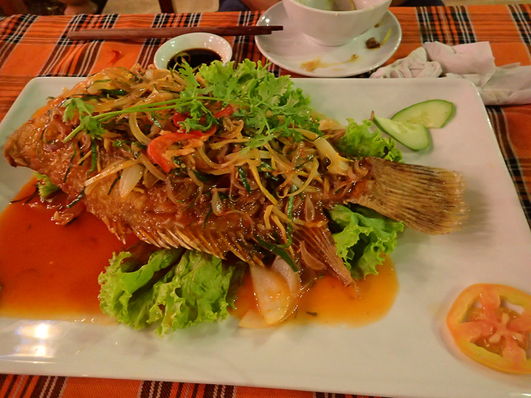 Crispy Grilled Fish with Chili Sauce