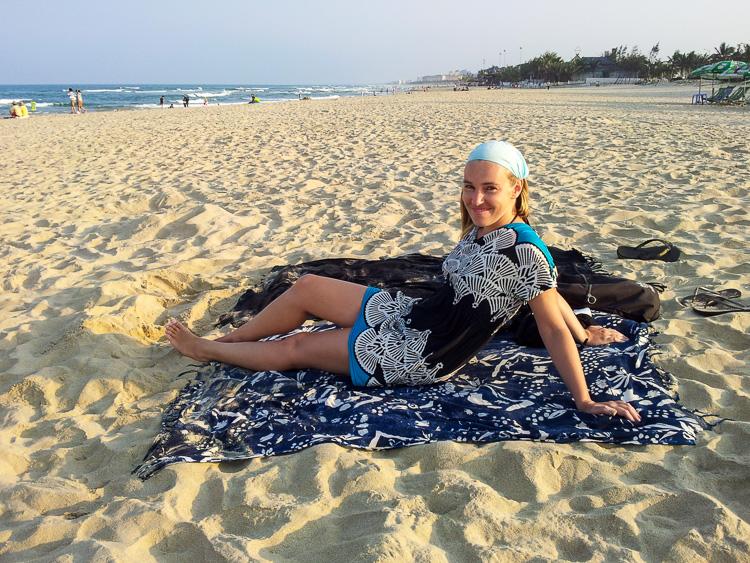 Hanging out at Da Nang Beach Vietnam