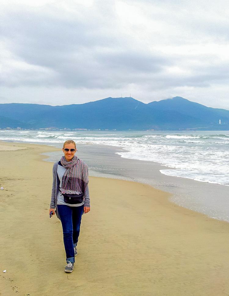 Walking on Da Nang Beach Vietnam