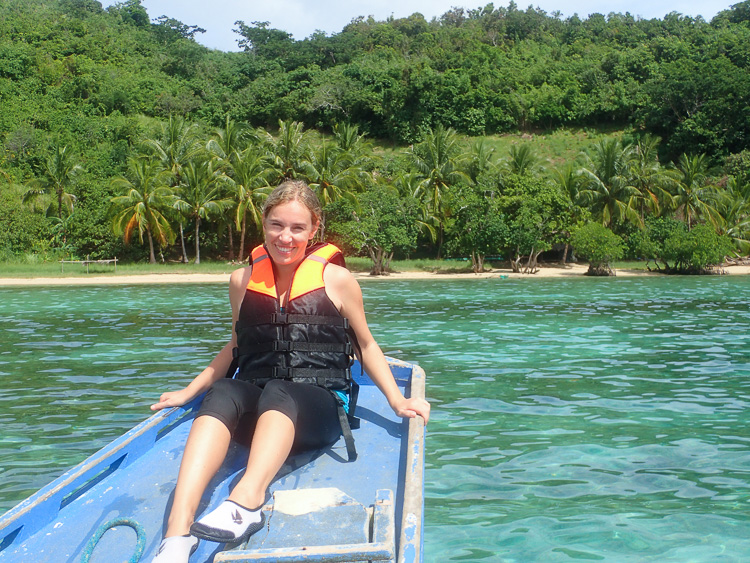 Hanging out on the boat at Dimalanta island