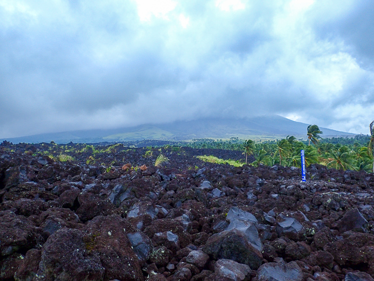 Mayon Volcano Eruption Site