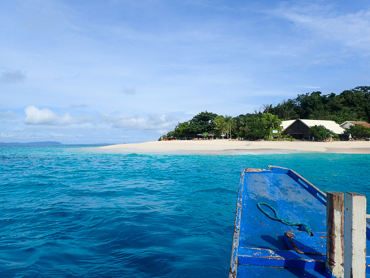 Dimakya Island from Boat