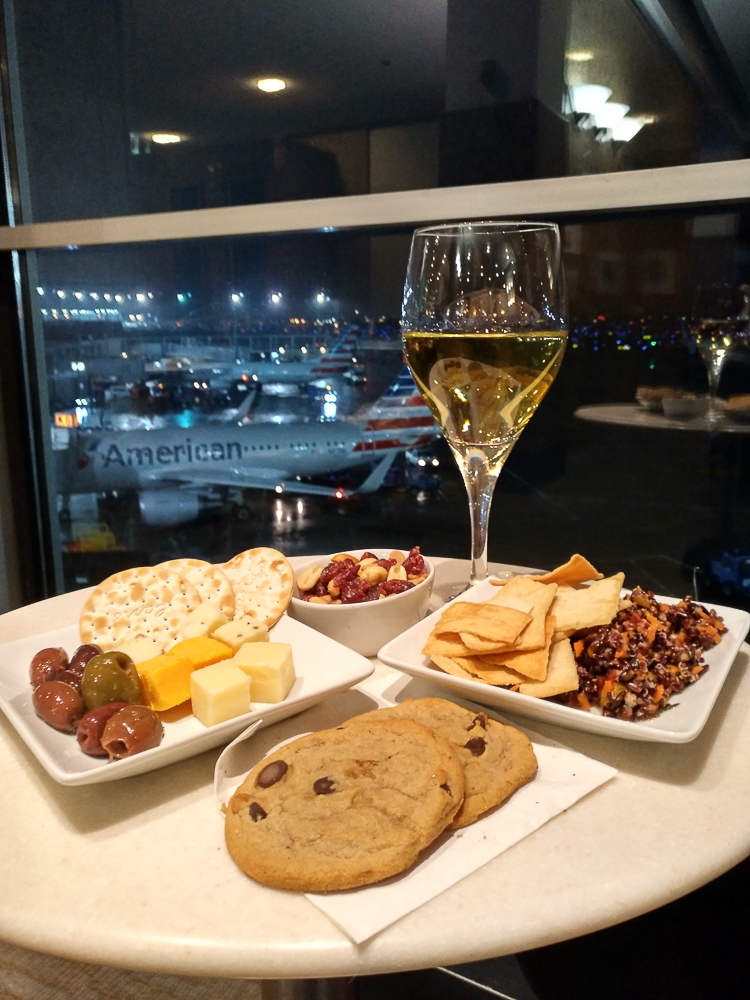 American Airlines Lounge food
